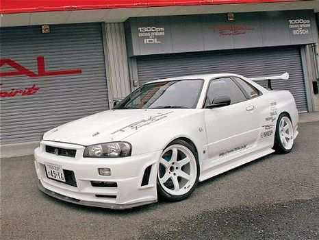 Nissan Skyline R34 GTR  Maybe make it a blue or red or even