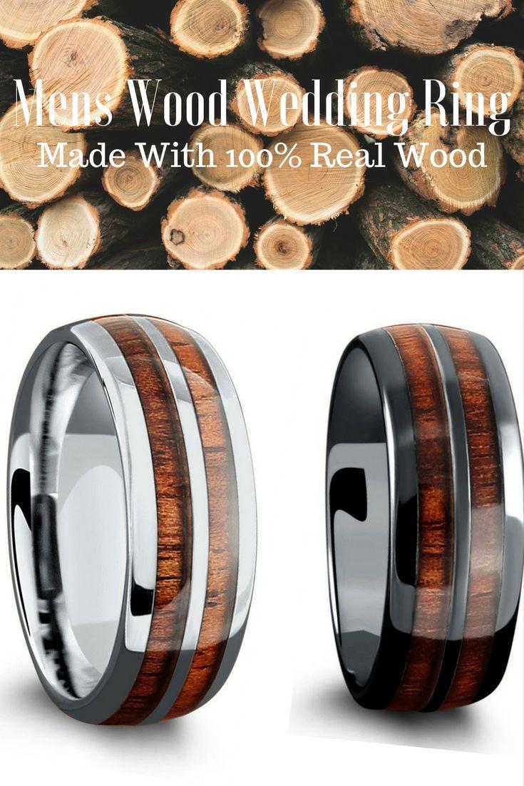 Some of my favorite wood wedding rings. Made with 100% genuine koa wood.
