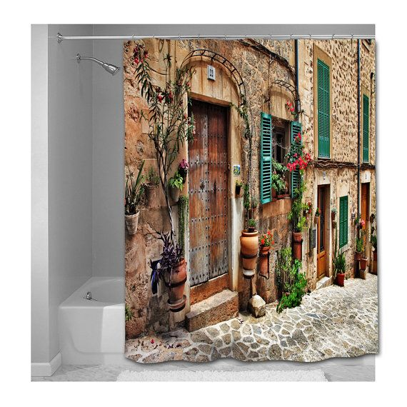 Charming Old Streets Of Spain Shower Curtain By Susanakame1