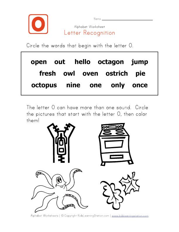 Words That Start With The Letter O Educacion Pinterest