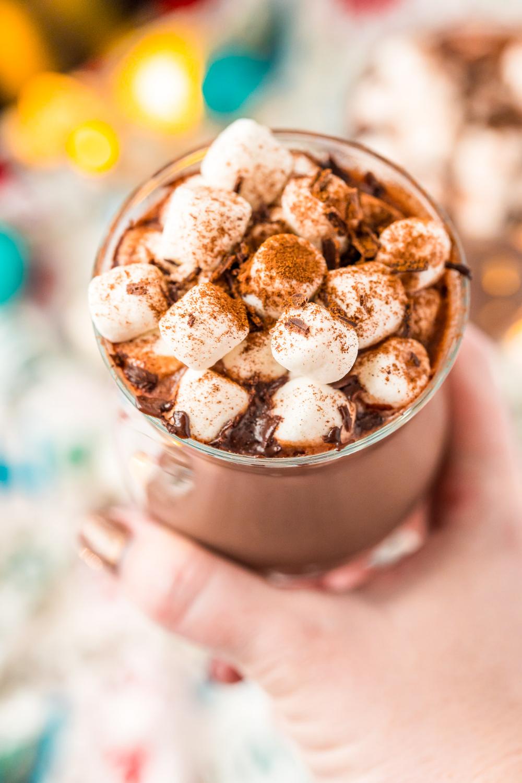 Crockpot Hot Chocolate Is Made With Heavy Cream Milk Sweetened Condensed Milk Chocolate Co Crockpot Hot Chocolate Hot Chocolate Recipes Vegan Hot Chocolate