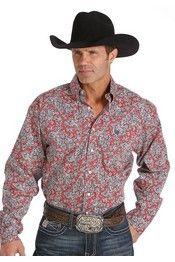 ce12f5fd7 Cinch® Men's Long Sleeve Red/Black Paisley Button Shirt | Cinch ...