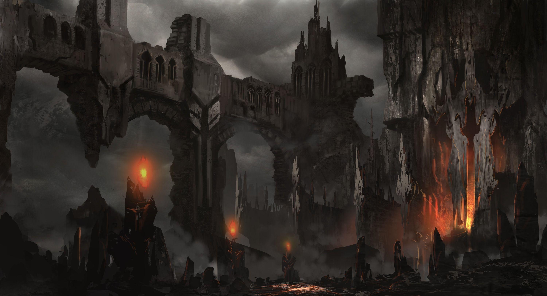 Dark Underground Ruins Fantasy Art Landscapes Fantasy Landscape Fantasy Castle