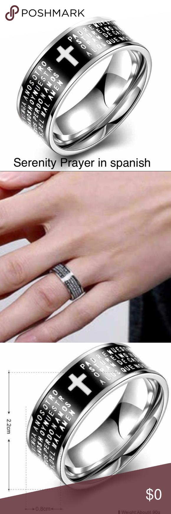Spanish Serenity Prayer ring | Serenity, Sterling silver and Ring
