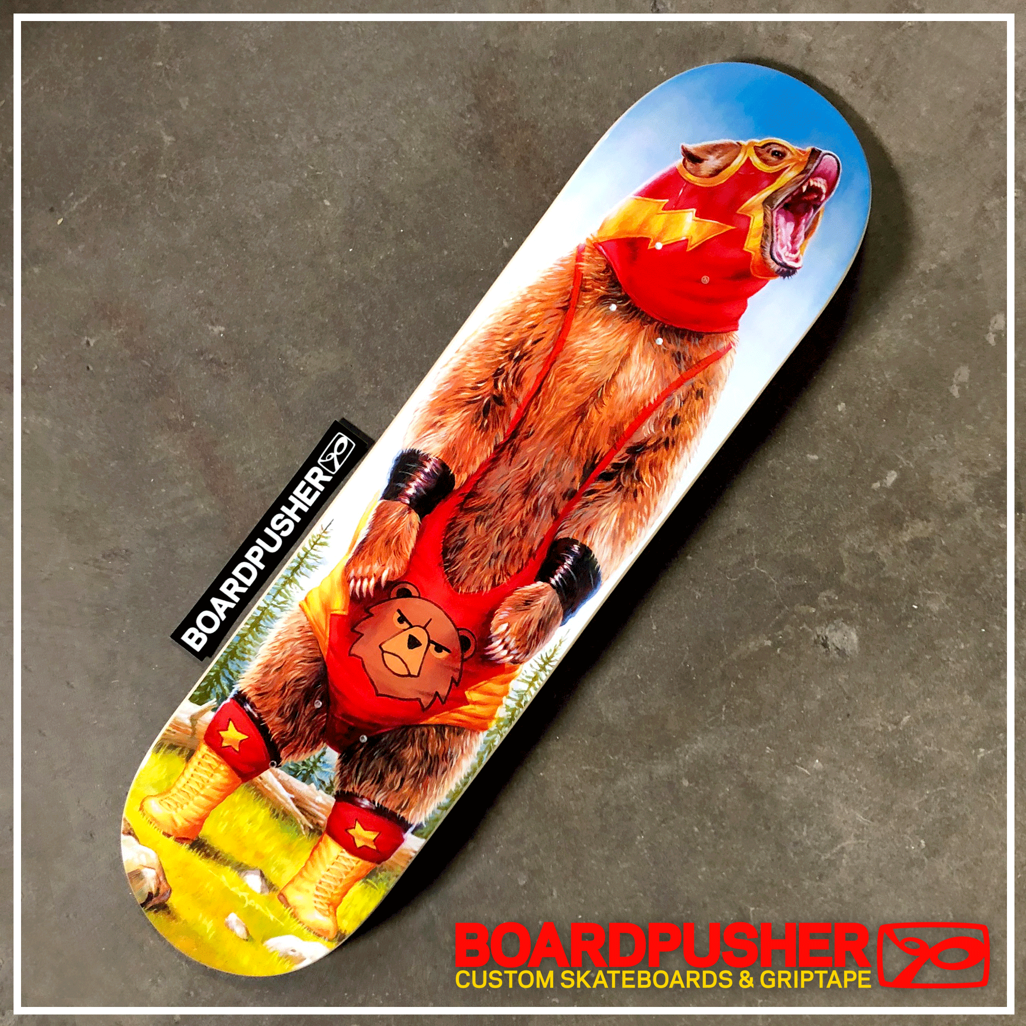 Featured Deck Of The Week Lucha Bear By Jason Edmiston For Vicarious Visions Tony Hawk Pro Skater Tony Hawk Pro Skater Pro Skaters Jason Edmiston