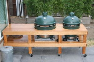 Nice Xl Big Green Egg Table Plans