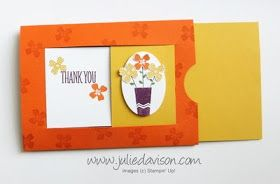 Stampin' Up! Pictogram Punches Hidden Message Slider Card VIDEO Tutorial #stampinup www.juliedavison.com