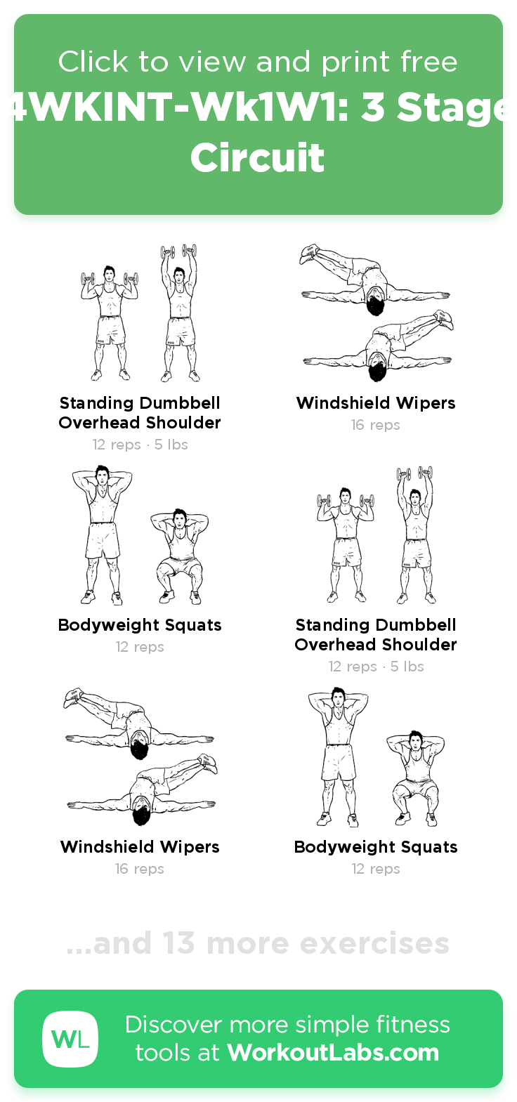 3 Stage Circuit – click to view and print this illustrated exercise
