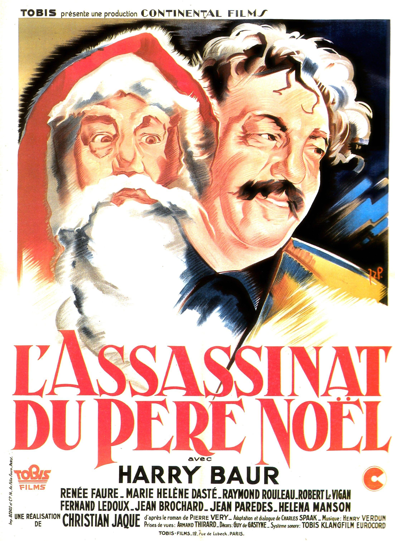 L Assassinat Du Père Noël : assassinat, père, noël, L'assassinat, Père, Noël, Christian-Jaque, Film,, Français,, Affiche