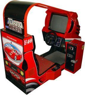Turbo OutRun (Sega) - Ferrari F40 sit-down cabinet | Núcleo ...