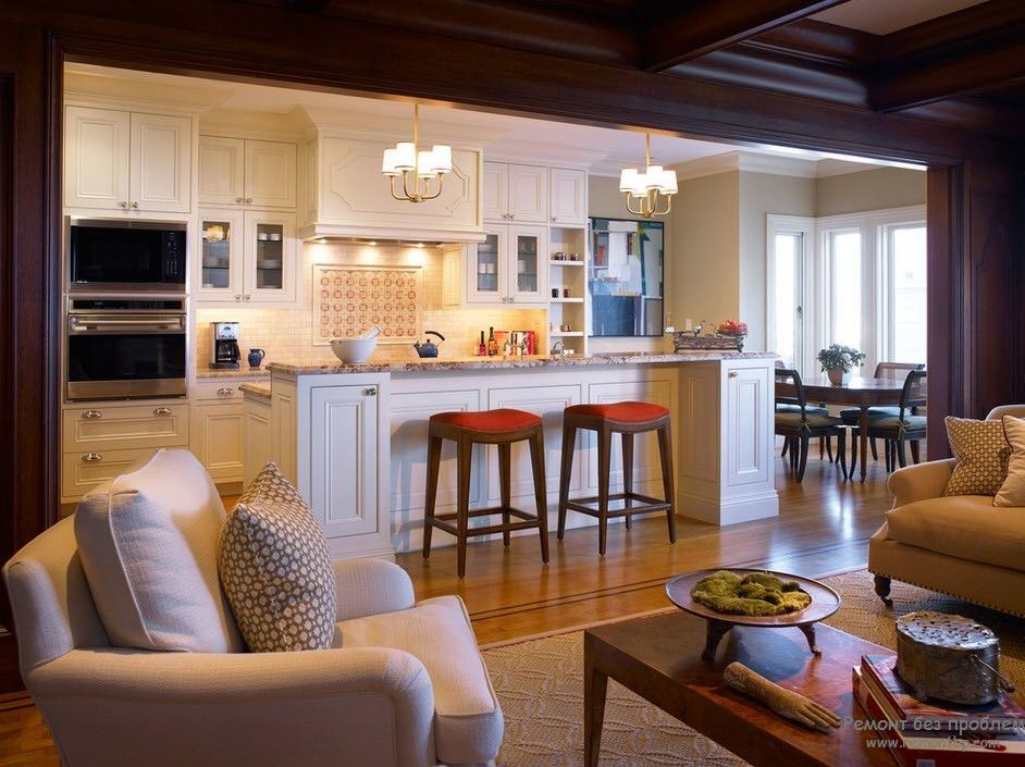 Lovely Family Room Kitchen Designs