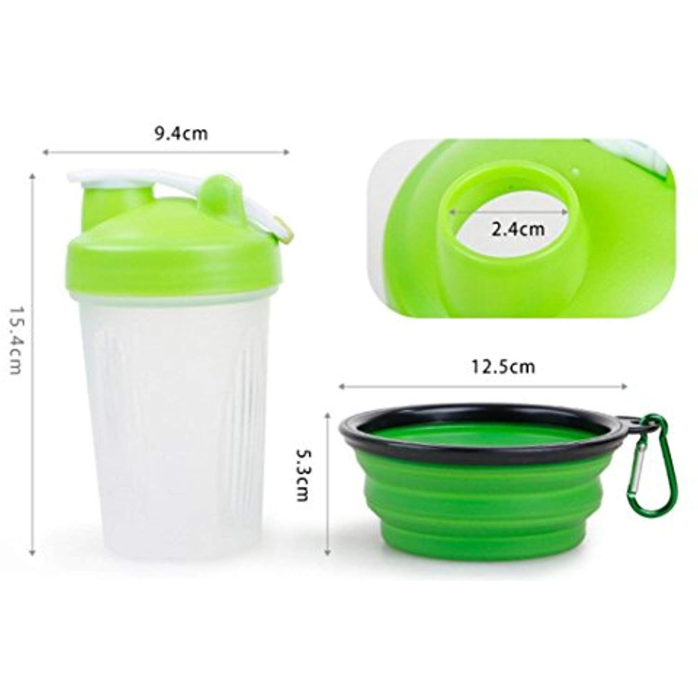 Easy Clean Feeding Bottle 2 In 1 Pet Portable Food And Water Feeding Bottle Outdoor Pet Food Storage C Pet Food
