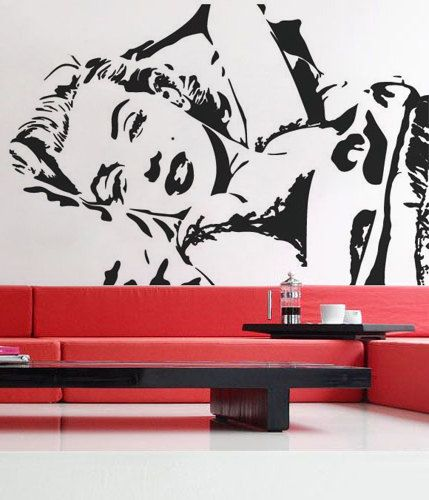Marilyn Monroe Wall Decal 3 So Getting This For My Marilyn Room Marilyn Monroe Decor Vinyl Decor Vinyl Wall Decals