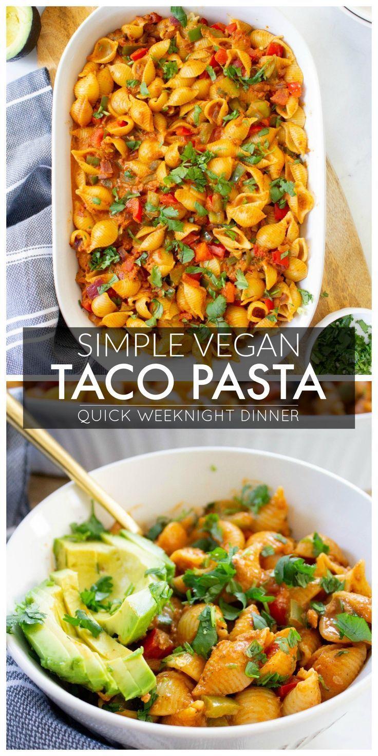 Vegan Taco Pasta - This Savory Vegan