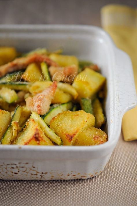 Photo of Chicken strips, potatoes and courgettes au gratin