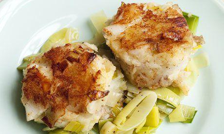 Nigel Slater's smoked haddock and leek fishcake recipe
