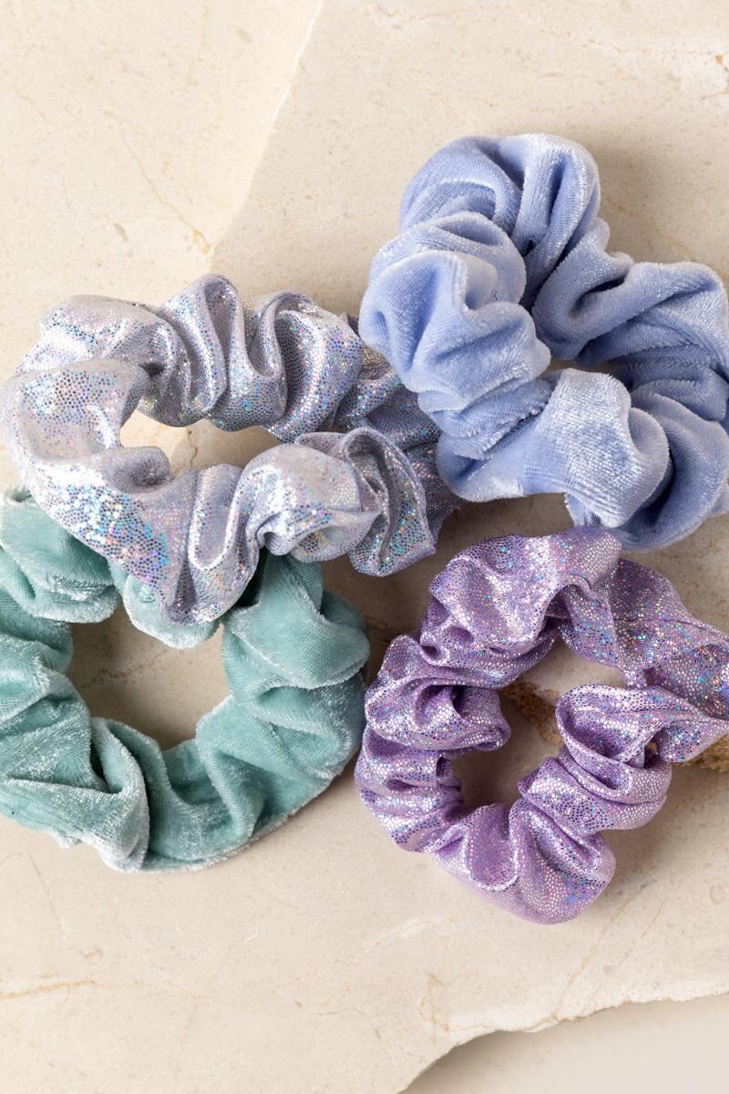 Leighann Sparkle Scrunchie Set | Francesca's - Hair Beauty