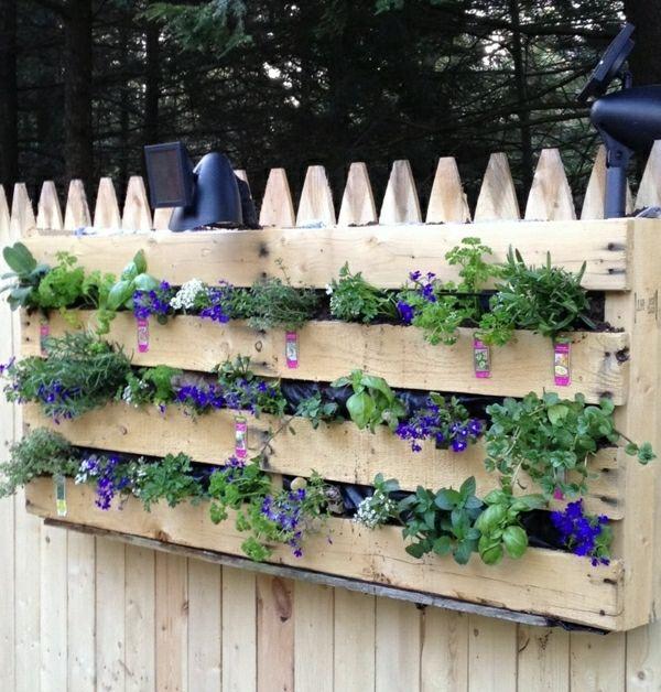 Garten Holzzaun Paletten Pflanzkübel selber machen ...