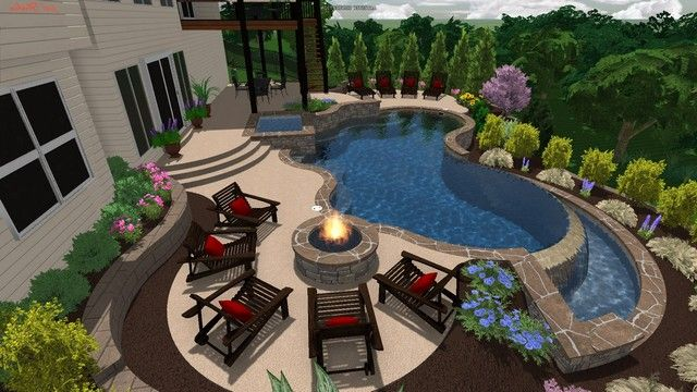 Building A Swimming Pool On A Slope Building A Pool Pool Patio