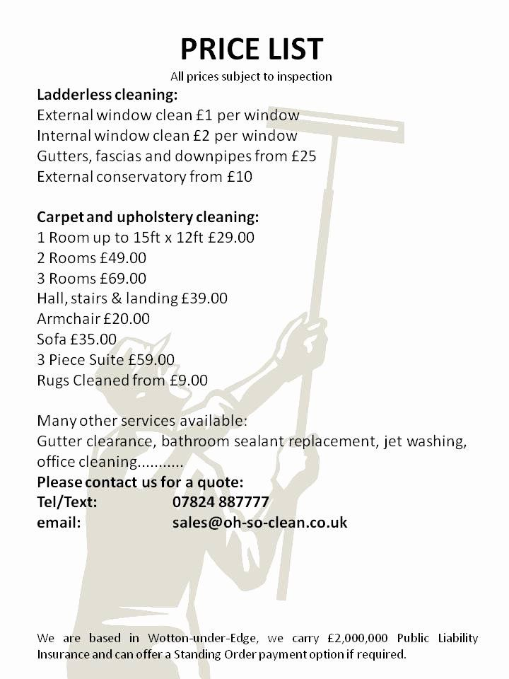 40 cleaning services prices list in 2020 with images