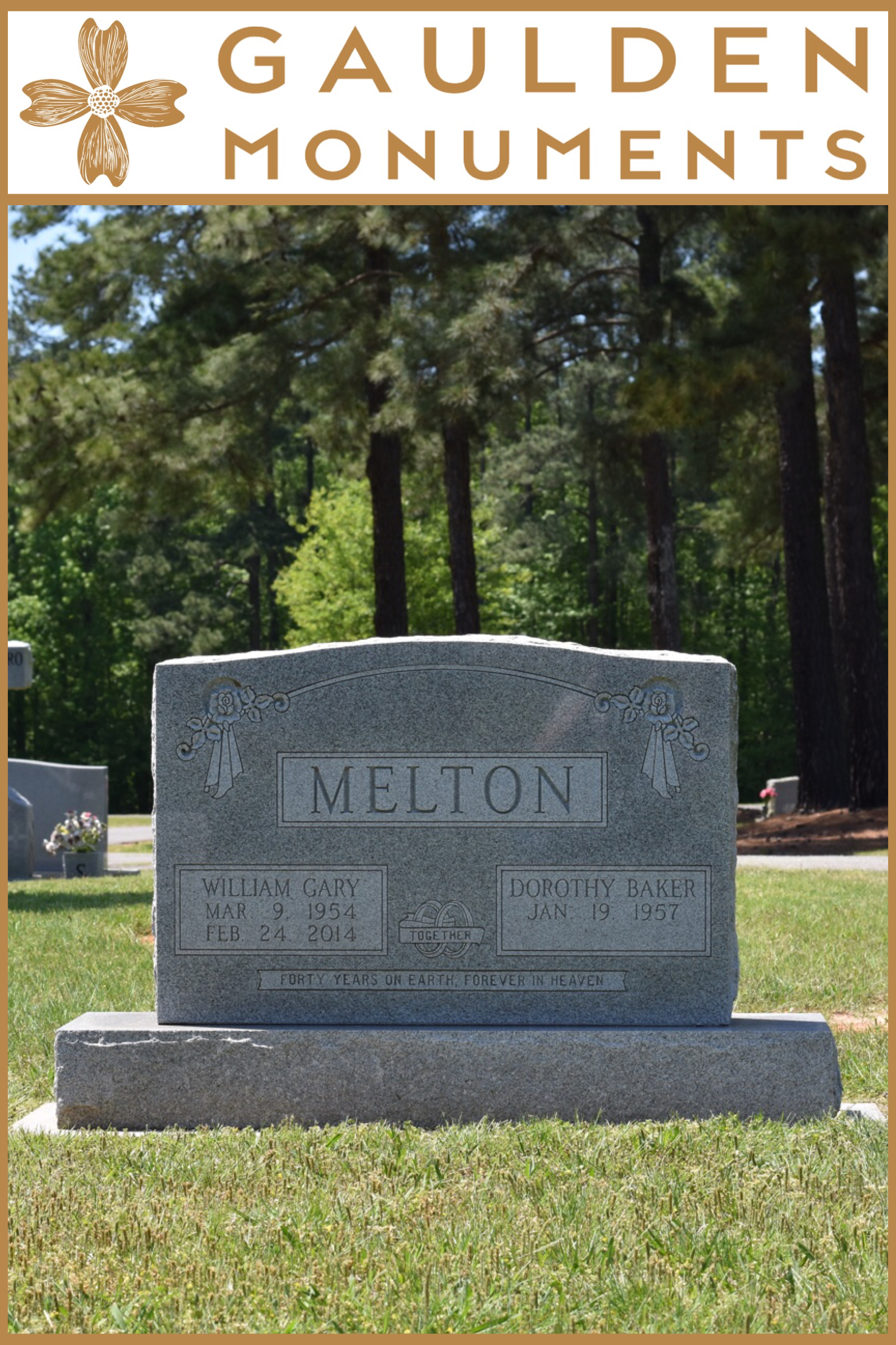 Granite Headstone Gaulden Monuments Granite Headstones Headstones Monument
