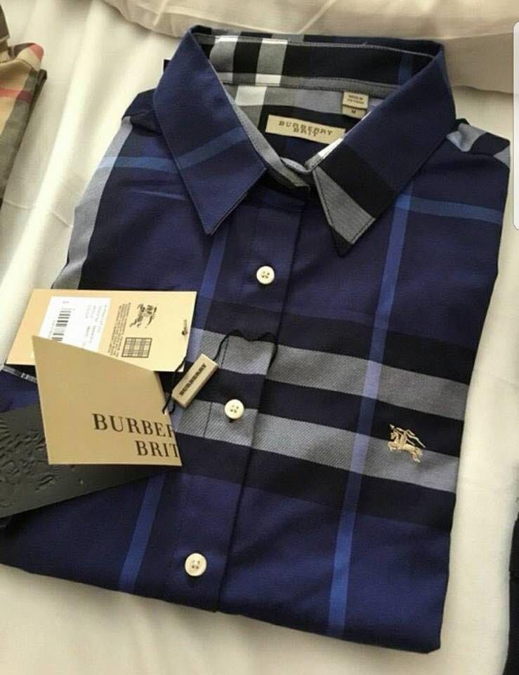 8660743a Burberry Men's Shirt Brit Indigo Blue Cotton Long Sleeve New with tags  #fashion #clothing #shoes #accessories #mensclothing #shirts (ebay link)