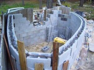 Concrete Filled Cinder Blocks Cinder Block Pond Construction Cinder