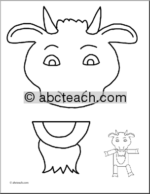 paper baaa g goat puppet with printable pattern may be used as a