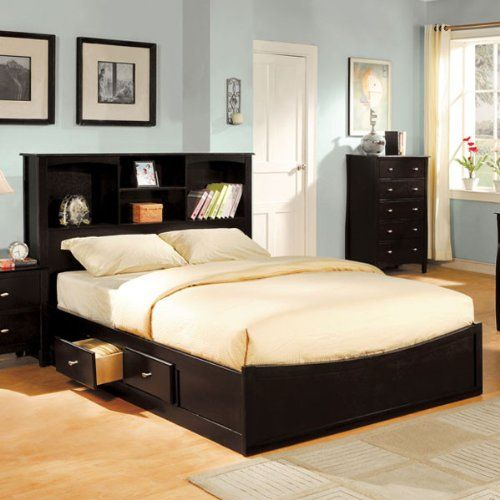 Cal King Size Brooklyn Espresso Finish Bed Frame Set 247SHOPATHOME