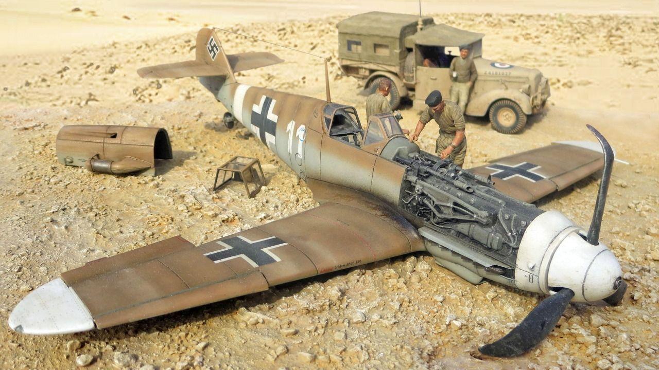 Messerschmitt Bf109g 2 By Kent Karlsen Revell 1 32 Diorama Messerschmitt Model Airplanes