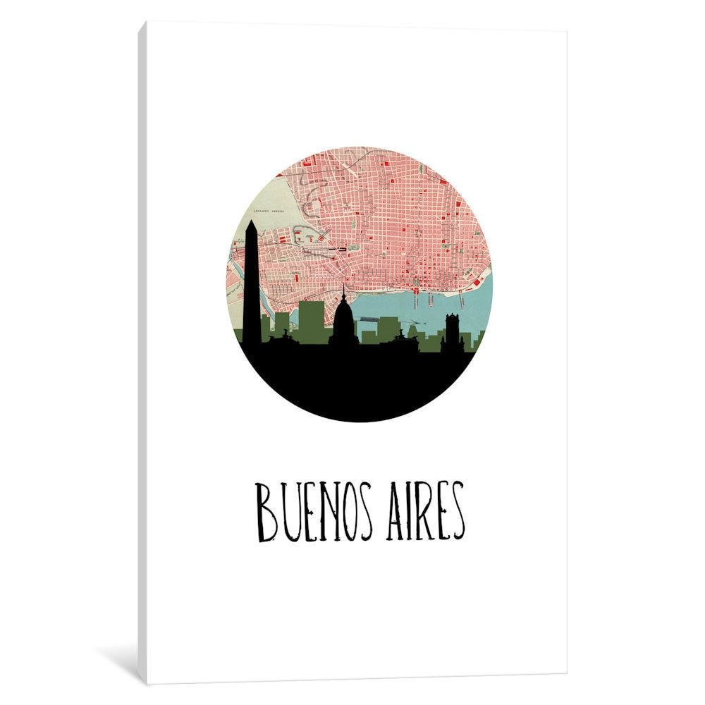 iCanvas 'City Spotlight Series: Buenos Aires' by PaperFinch Design Canvas Print
