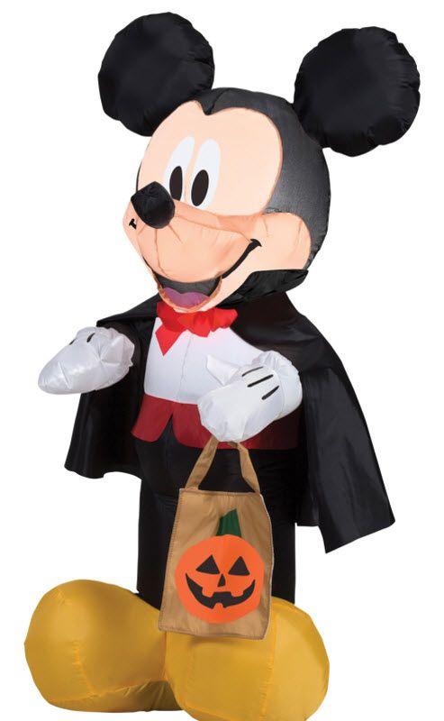 Airblown Inflatable Vampire Mickey Halloween Decorations - halloween inflatable decorations