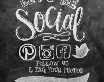 c8c495b4890 Let's Be Social Follow Us Social Media Sign Boutique Retail Fashion Store  Pinterest Facebook Instagram Twitter