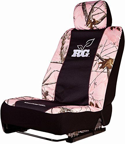 amazon com camo low back seat cover universal realtree ap pink