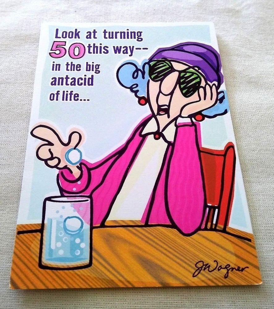 Vintage 50th Birthday Greeting Card Unused Vintage Hallmark Maxine