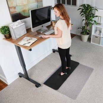 Sit Stand Desk Anti Fatigue Mat Standing Hard Floor Low Pile Carpet Desk