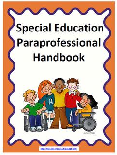 Miss Allison S Class Paraprofessional Handbook Freebie Special Education Paraprofessional Teaching Special Education Paraprofessional
