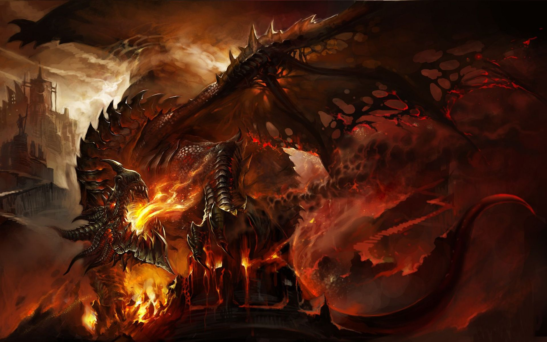 Red Fire Dragon: 25 Best Epic Dragon Art Picture Gallery