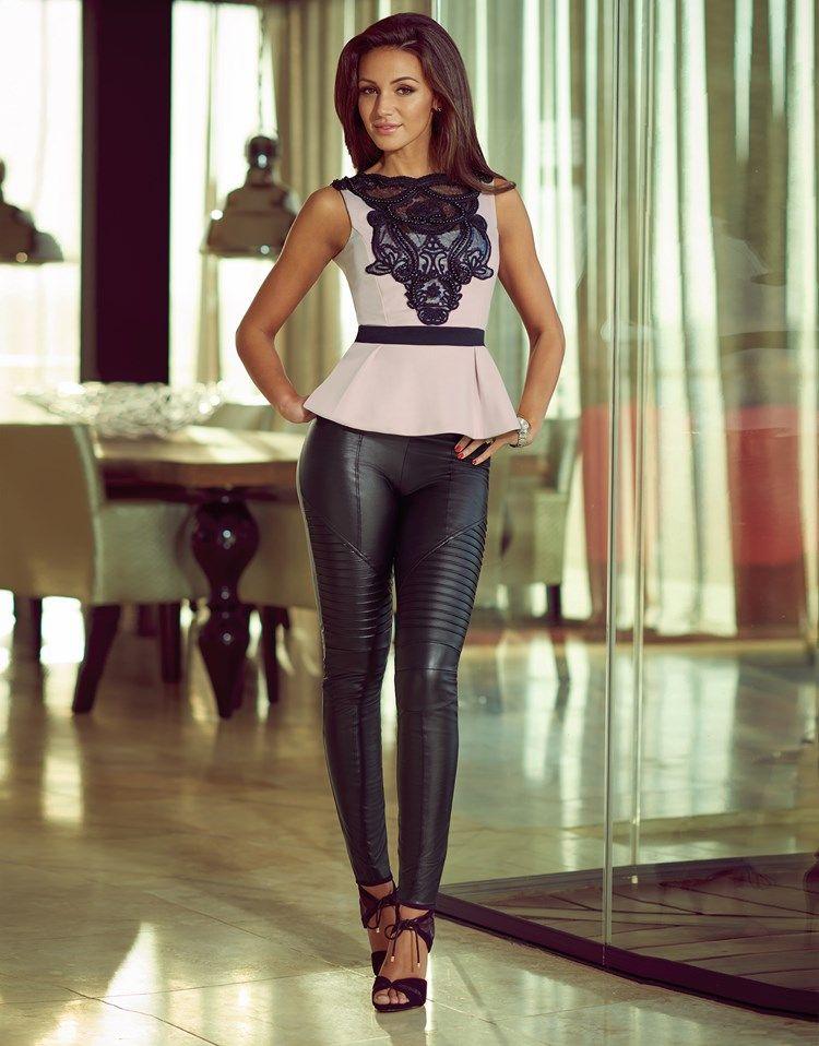 aa1bf36c0e247 Michelle Keegan Faux Leather Biker Leggings | Beauty/Fashion | Biker ...