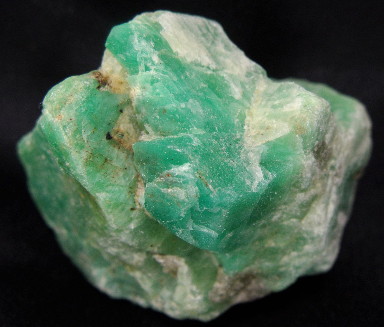 Natural Fine Gemmy Raw Rich Blue Green Amazonite Stone Crystal