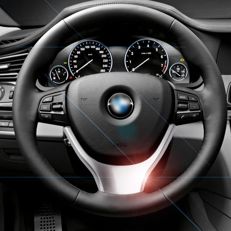 Chrome Steering Wheel sequins Cover Trim Car Styling for BMW 5 ...