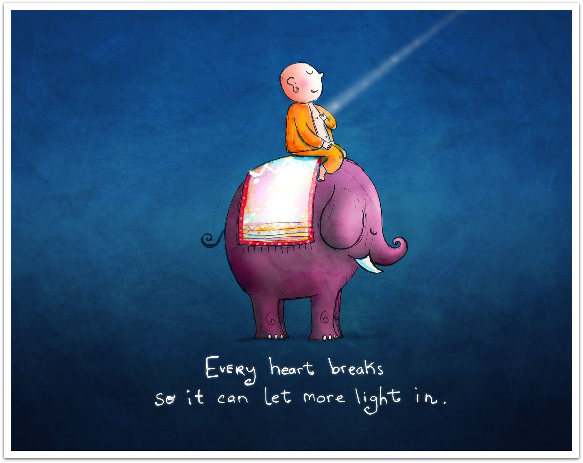 Every Heart Breaks So It Can Let More Light In Buddha Doodle - 20 heartbreaking doodles that will have you laughing and then crying