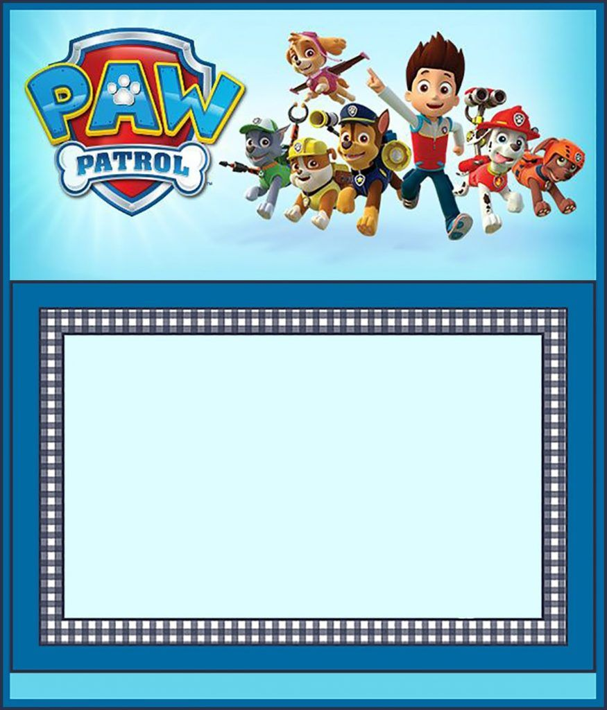 photo regarding Free Printable Paw Patrol Invitations referred to as Free of charge Paw Patrol Invitation Template Coolest Invitation