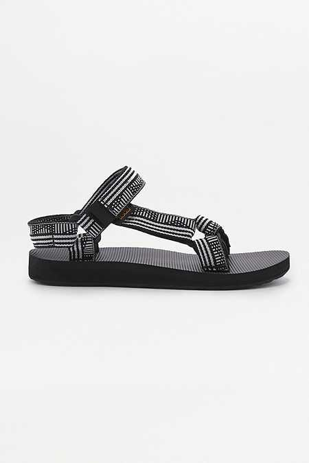 52da333bb285e4 Teva Original Universal Geometric Black And White Sandals ...