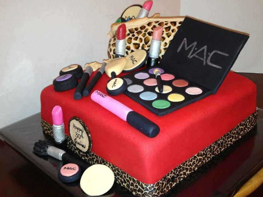 Mac MakeUp Birthday Cake 21st Birthday Cake Ideas Pinterest