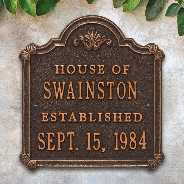 Chatham Personalized Anniversary Aluminum Plaque Antique