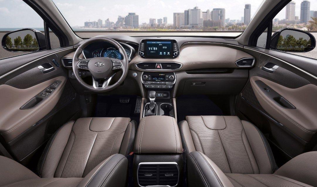 2020 Hyundai Santa Fe Hybrid Interior Restyling With More Tool Available Hyundai Santa Fe Interior Hyundai Santa Fe Sport Santa Fe Sport