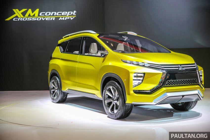 Mitsubishi Xm Honda Br V Rival Crossover Revealed At Giias In 2020 Mitsubishi Crossover Mitsubishi Cars Mitsubishi