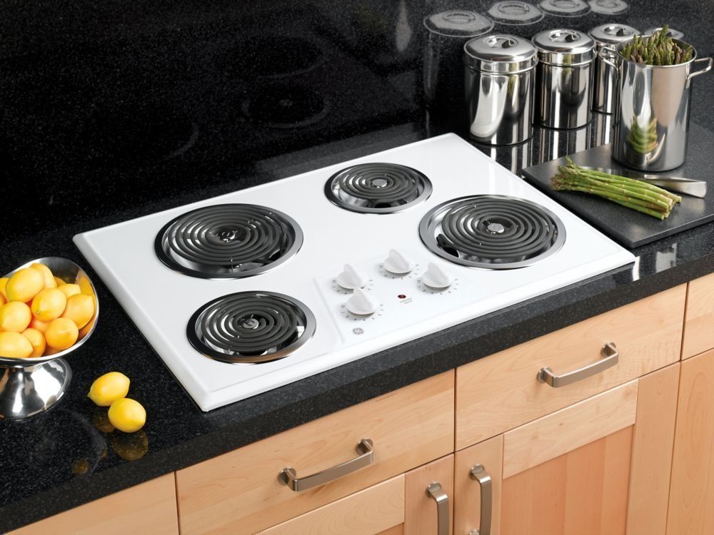 30 Inch Built In Electric Cooktop In White Electric Cooktop Kitchen Oven Stove