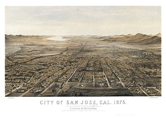 San Jose Elevation Map.Map Of San Jose Santa Clara Co California Ca From Elevation Of